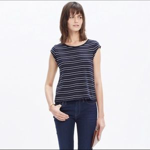 Madewell Marquis T-shirt Striped Size M C2